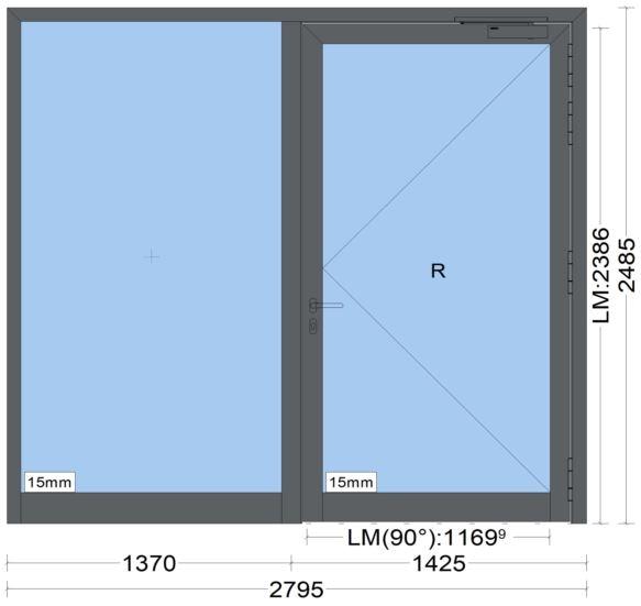 Brandschutzelement - Brandschutztüre - heroal D 82 FP - Notausgang - 006