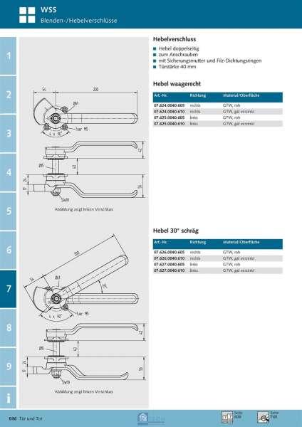 Blendenverschluss links, TS 50 mm - WSS 07.631.0050.010